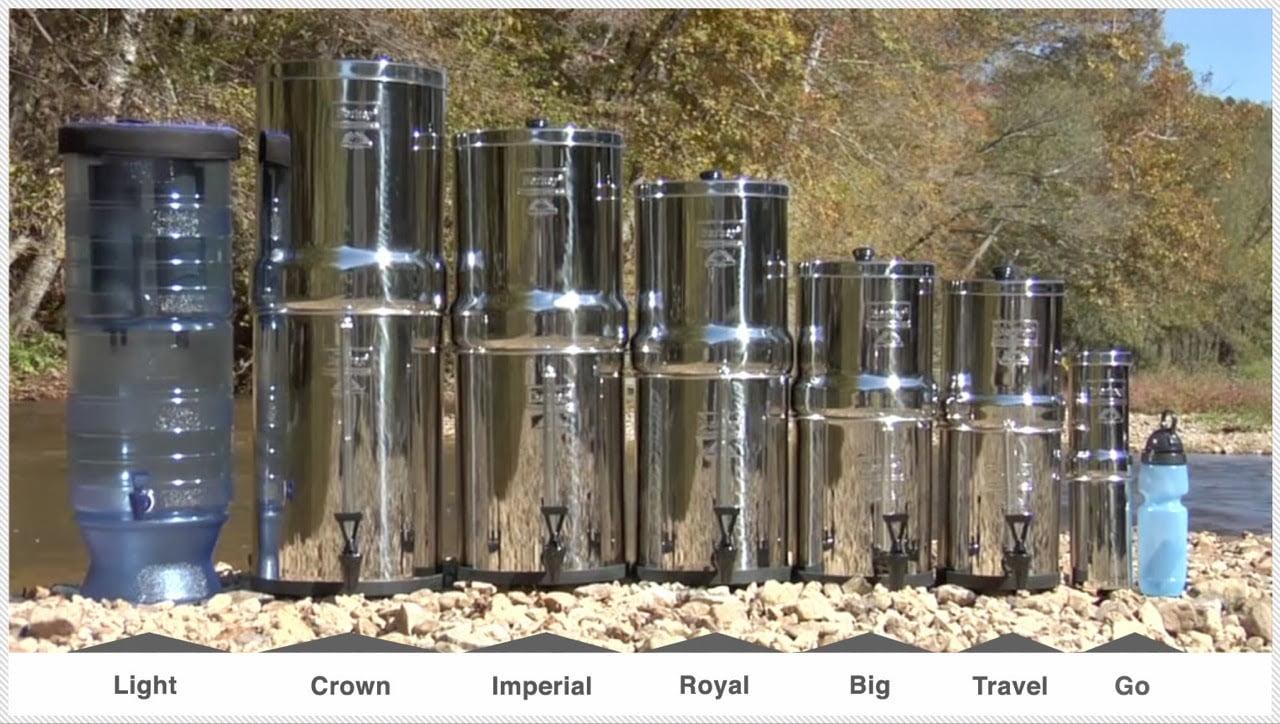 berkey water filter types